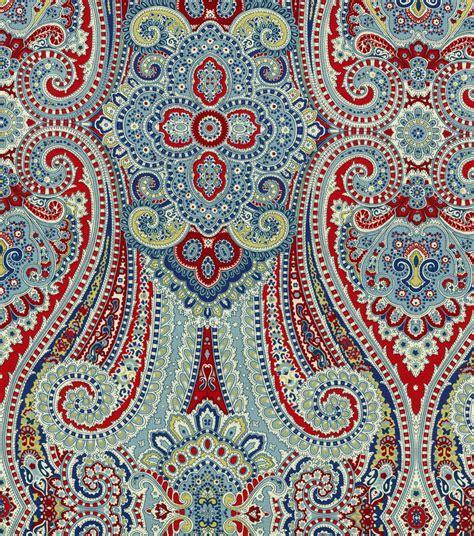 waverly home decor print fabric paisley pizzazz herita
