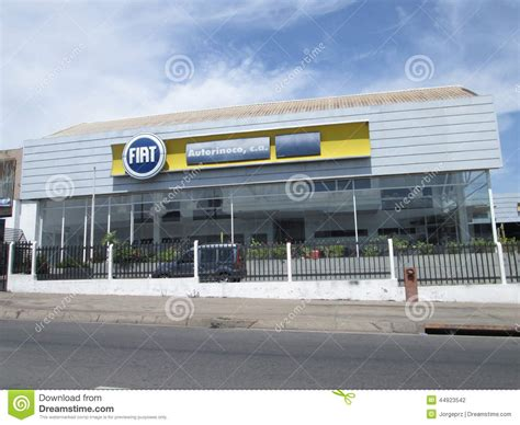 Fiat Car Dealership by Fiat Car Dealership In Ordaz Editorial Photography