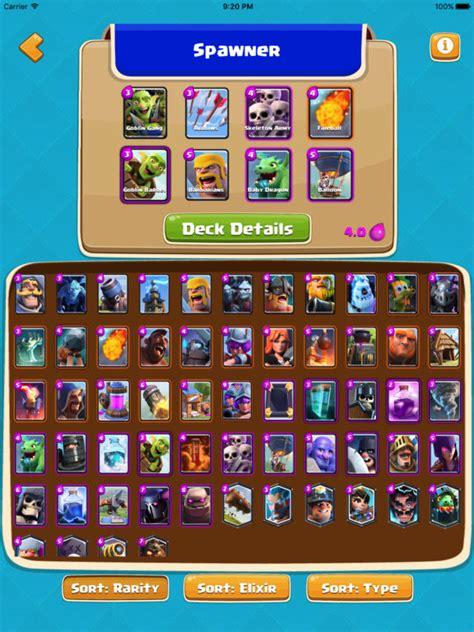 deck builder for clash royale building guide app voor