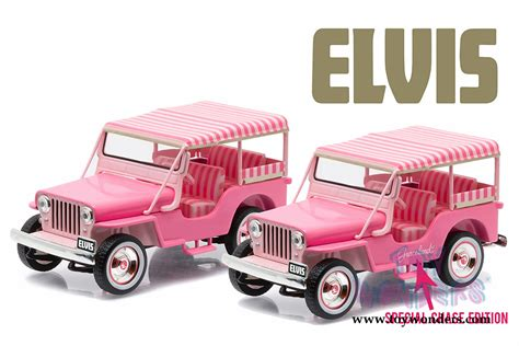 light pink jeep 1960 jeep surrey cj3b quot pink jeep quot elvis presley 86472 1 43