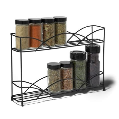 Wall Mount Spice Rack With Jars by Spice Rack Organizer 2 Tier Kitchen Bottles Jars
