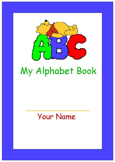 Cover Letter For Book by Printable My Alphabet Book Cover Pre School Ideas