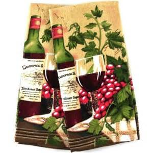 amazon com wine themed kitchen towel velour kitchen towel