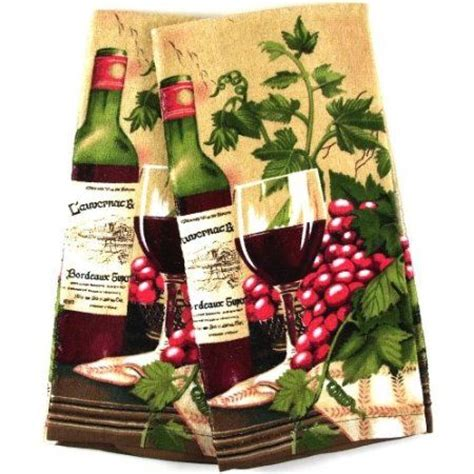 amazon com wine themed kitchen towel velour kitchen towel