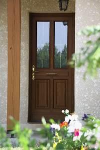 Porte Vitrée Pvc : porte d 39 entr e vitr e pvc fa on bois mod le matisse vue ~ Melissatoandfro.com Idées de Décoration
