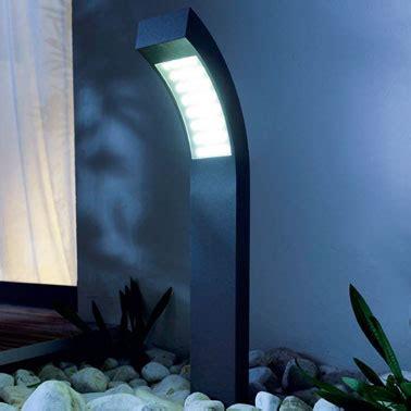 borne luminaire a LED pour jardin