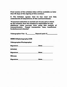 music video contract template free download With music production contract template