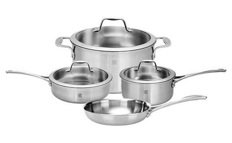 zwilling ja henckels spirit stainless cookware set  piece cutlery