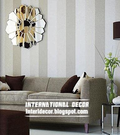 Striped Wallpaper Living Room Ideas by Modern Living Room Wallpaper Design Ideas Interior