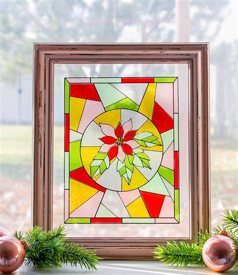 The Craft Patch Christmas Craft Faux Stained Glass Window