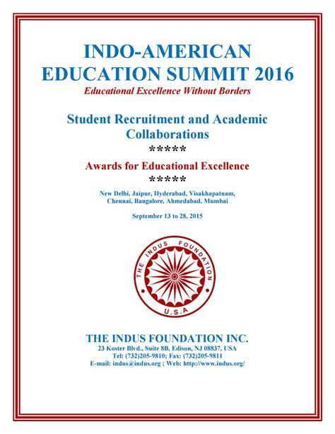 indo american education summit   india  indus