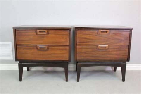 mid century modern nightstands american walnut mid century modern nightstands pair at
