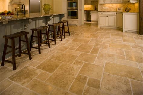 tiles for kitchen travertine kitchen floor design ideas cost and tips 6862