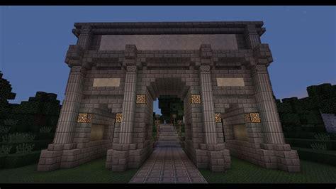 minecraft roman triumphal arch tutorial youtube