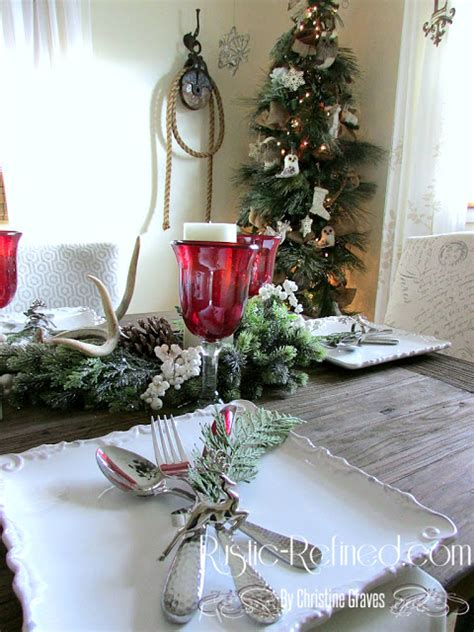 Traditional Christmas Tablescape  Rustic & Refined