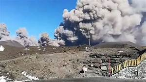 Mount Etna Erupts  130 Earthquakes Recorded
