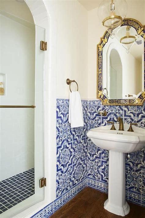 mediterranean bathroom design boasts blue moroccan style