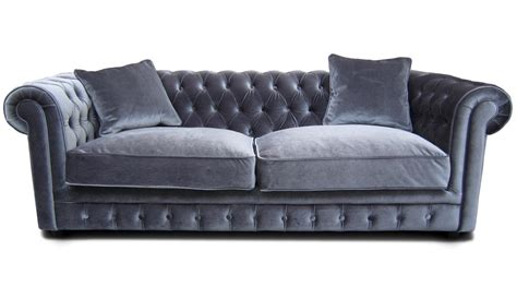 photos canap 233 chesterfield tissu gris