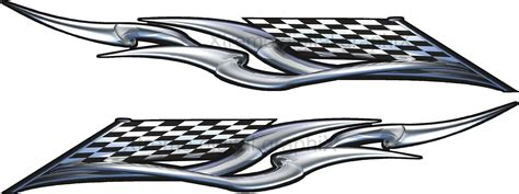 Car Checkered Decals, Truck Checker Flag Graphics, Race