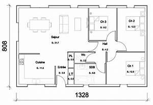 idee plan maison bois manuella becokit maisons With idee de plan de maison