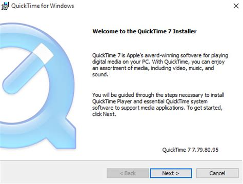 how to install quicktime for windows 10
