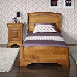 Lit Bois Massif Design : lit de style louis philippe odile en merisier meuble en merisier massif ~ Teatrodelosmanantiales.com Idées de Décoration