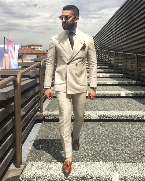 beige double breasted suit mens fashion suits mens