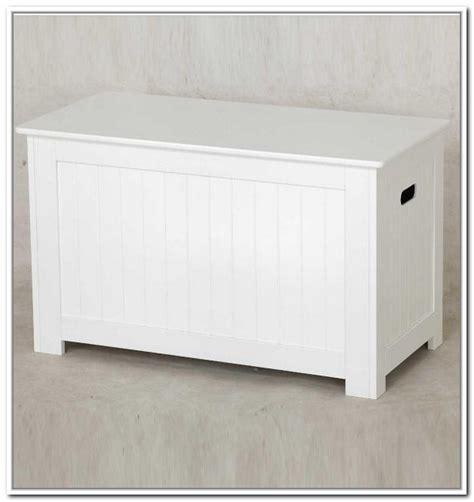 White Wood Storage Bench by Storage Bench White Treenovation
