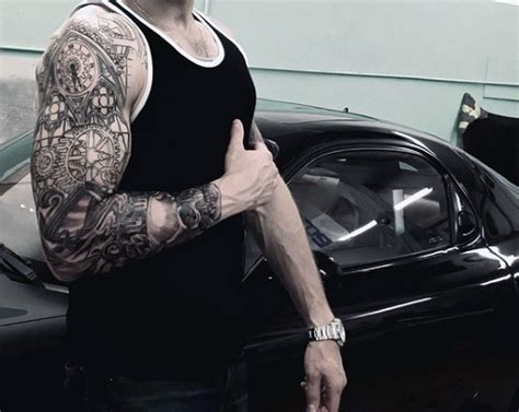 mechanic tattoos  men masculine robotic overhauls