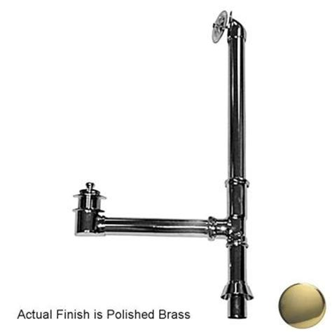 pegasus leg tub drain with twist and lift stopper in