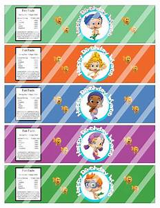 8 best images of bubble guppies birthday party printables With bubble bottle label template