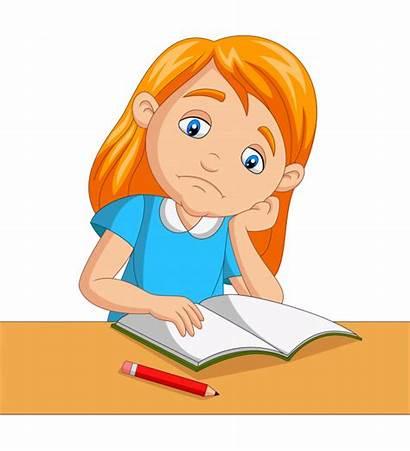Studying Homework Bored Vector Premium Freepik Happy