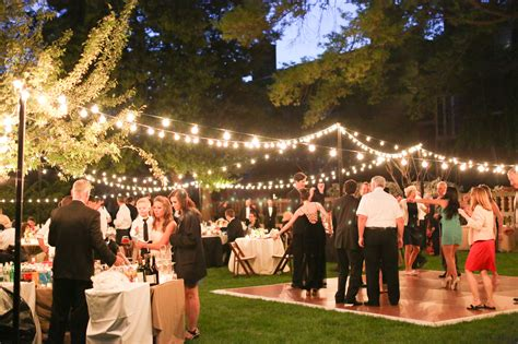 elegant outdoor wedding reception in washington dc