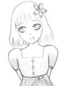 Little Anime Girl Drawing