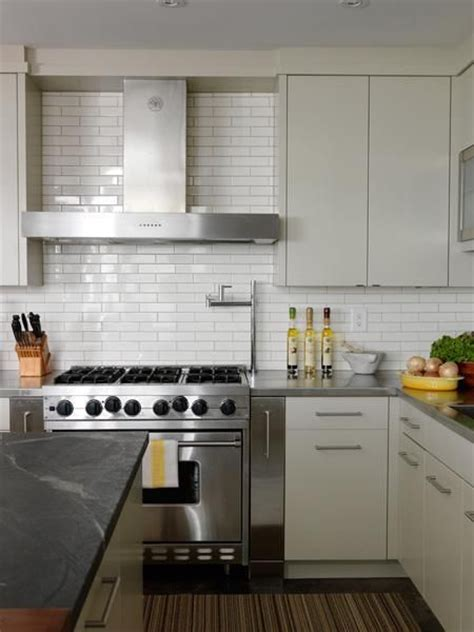 hotte de cuisine stainless cameron macneil modern white kitchen design with