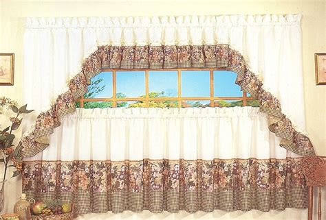 Grape Decor Kitchen Curtains by 100 Grape Print Kitchen Curtains Curtain Tiers For