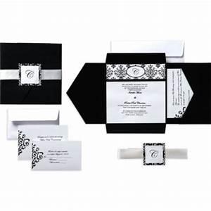 black white scroll square pocket printable wedding With printable wedding invitation kits canada