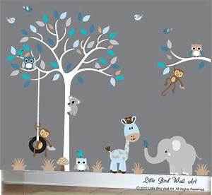 25 best ideas about grey blue nursery on pinterest grey for Best 20 white tree decal for nursery wall