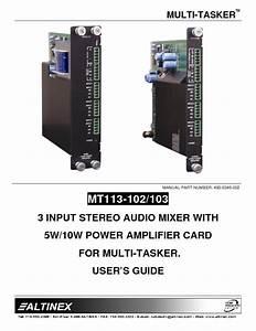 Mt113-102  103 Manuals