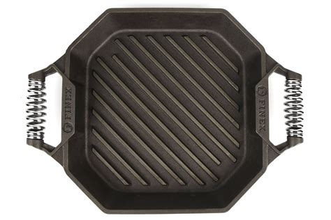 finex cast iron double handle grill pan  cutlery