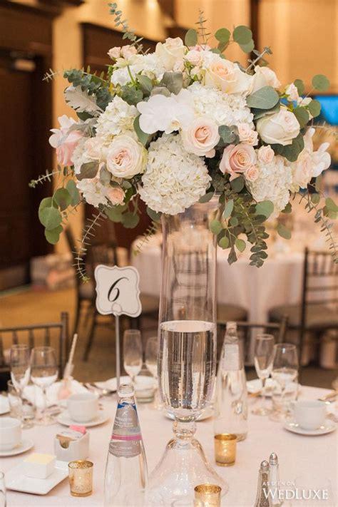 top  blush pink wedding certerpieces roses rings