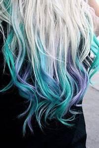 platinum blonde hair with blue & purple