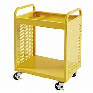 Table De Chevet Jaune : table de chevet indus roulettes en m tal jaune atelier hype maisons du monde ~ Melissatoandfro.com Idées de Décoration