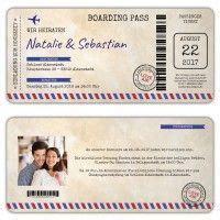 geburtstagseinladung flugticket boarding pass einladung