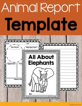 animal report template  rachel  resources teachers