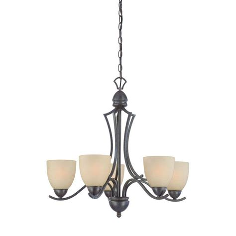 lighting triton 5 light bronze chandelier