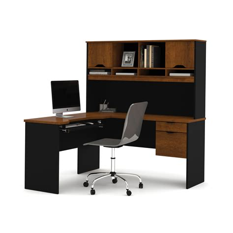 making an office desk bestar innova l shape computer desk with hutch reviews