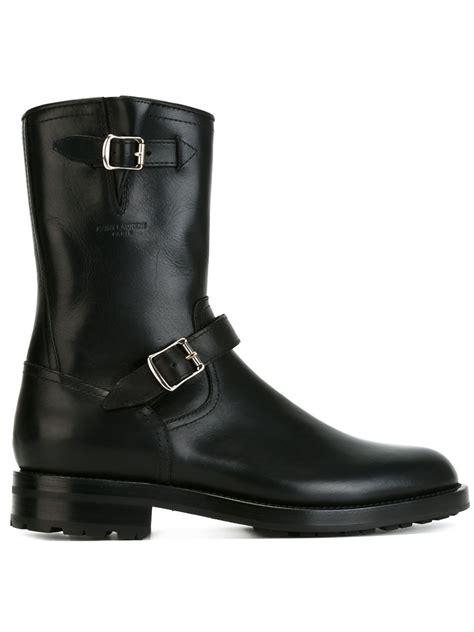 classic biker boots saint laurent classic biker boots in black for men lyst