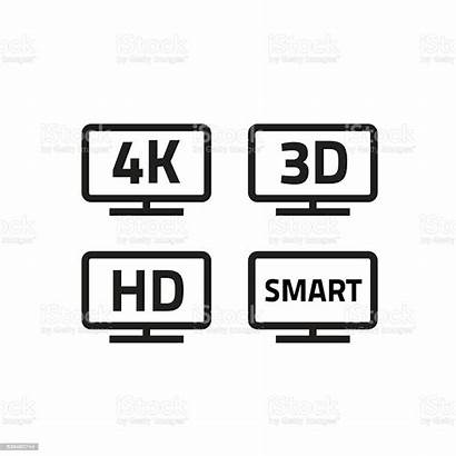 4k Tv Smart Icons Ultra Television 3d