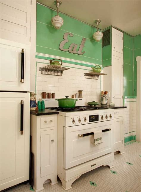 cuisine deco vintage vintage kitchen decor green pixshark com images